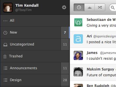 WebApp (new style) webapp twitter favorites organizer html css3 css