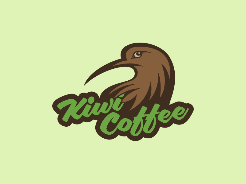 Kiwi Coffee bird branding logo coffee kiwi