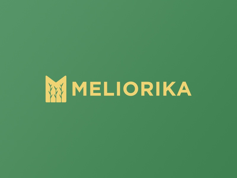 Meliorika logo growth farming agriculture corn wheat melioration m agro