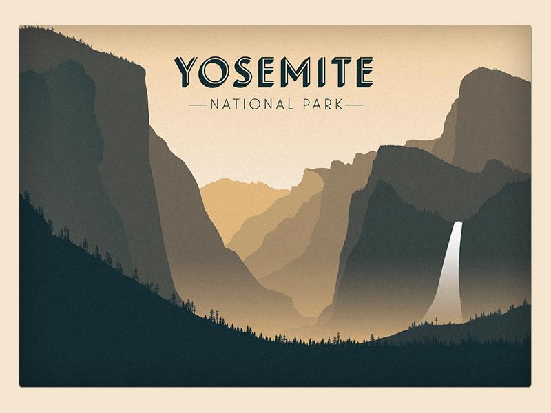 Yosemite National Park Poster Art