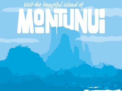 Montunui Poster & Logotype blue hawaii polynesian typography poster disney montunui moana