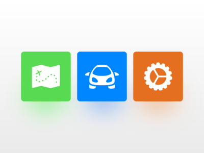 Primary Icons for MileEyes settings cog map car icons