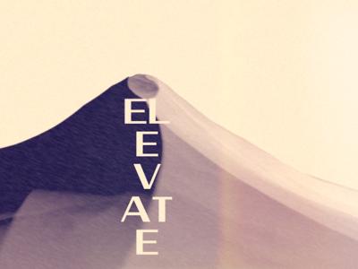 Elevate typography japanese art landscape poster