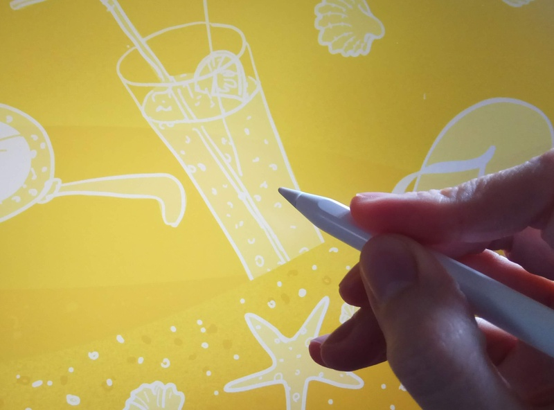 summer beach banner doodle summer ipad product illustration illustration procreate wip summer vibes