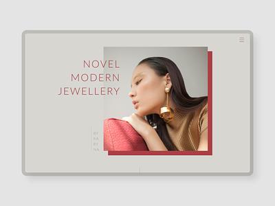 Jewellery website design WIP adobe xd madewithadobexd web design jewellery website design web design