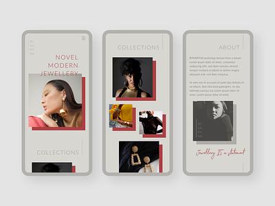 Mobile version of Jewellery Maker website clean mobile website design mobile design adobe xd responsive web design responsive mobile