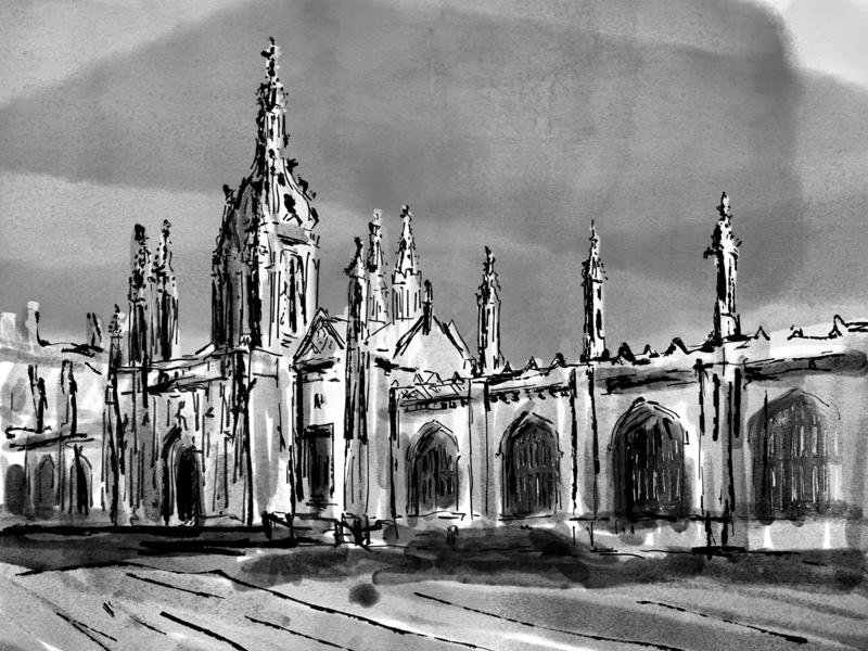 King's College Cambridge by Agnes Szmat on Dribbble