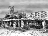 Market Square in Cambridge UK