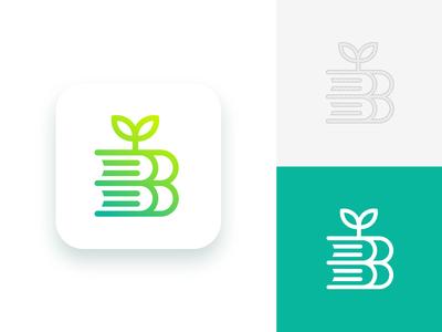 Books + Growth Logo Concept (Unused)