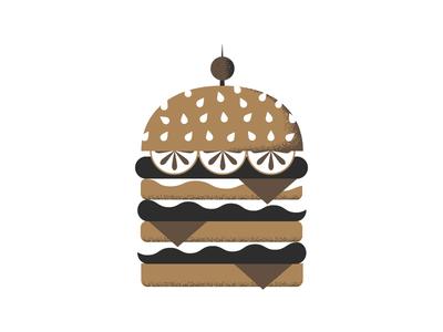Burger hamburger vector doodle texture illustration food fast food burger