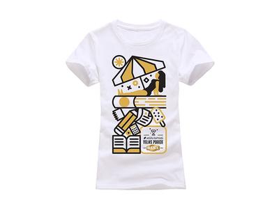 Nestle t-shirt books study summer girl editorial illustration nestle t shirt