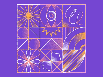 Pattern, just for fun. 🔄 textures grain geometrics eye outline design grid illustration pattern