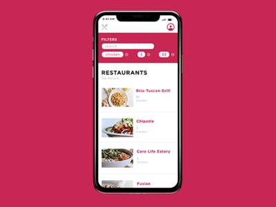 Foodie App web app typography ux ui design
