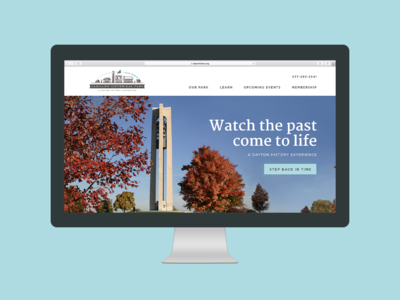 Carillon Park Website historical historic typography website web ux ui design