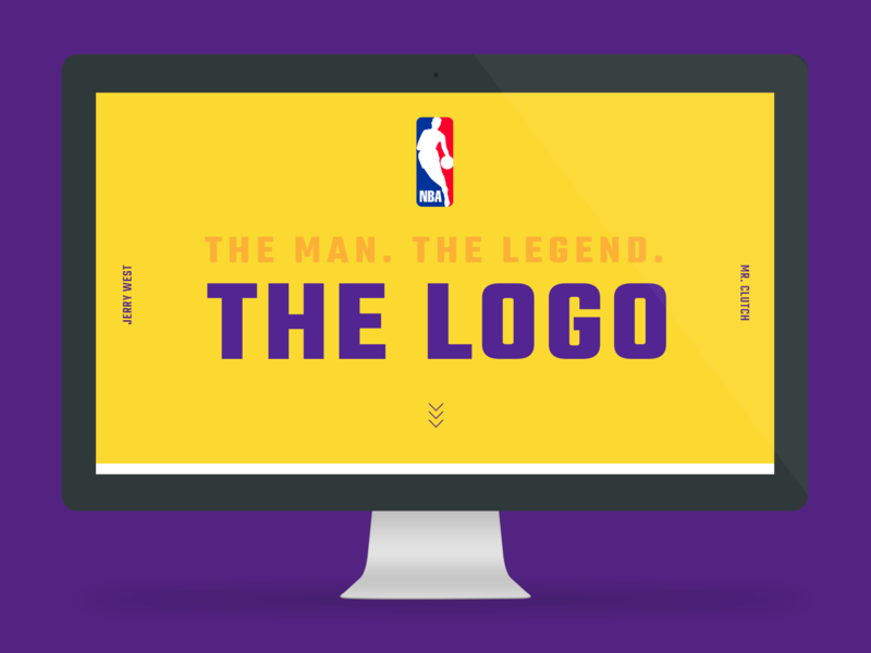 Jerry West Website basketball sports typography historic ui design