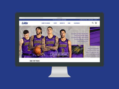 Lids Website Redesign website design sports web typography ux ui