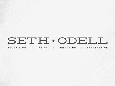 Seth Odell typography identity logotype logo name deming gotham rounded