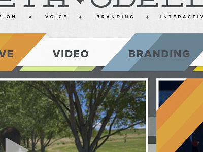Portfolio UI. deming ep stripes grids portfolio web ui ux proxima nova deming