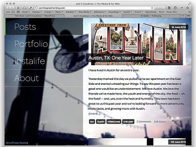 Joel G Goodman Blog Redesign redesign wordpress responsive rwd web web design