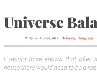 WordPress blog design wordpress typography web blog source sans pro playfair display fontawesome