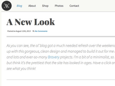 Redesign: Wayside Violet wordpress web typography playfair display source sans pro