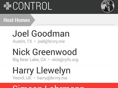 Small Screen Admin Concept ryfo mobile phone admin dashboard search small screen