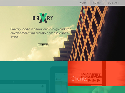 Simplified layout bravery grid web design
