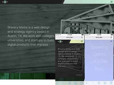 New Bravery Site [WIP] wordpress web design marketing