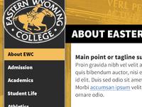 Higher Ed Site Design