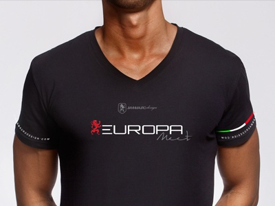 EUROPA Meet tee shirt event cars italia jm supercars clean