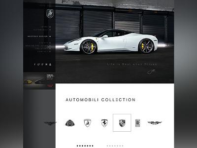 Jianmauro Design  web design new modern sport ferrari luxury black responsive website automotive