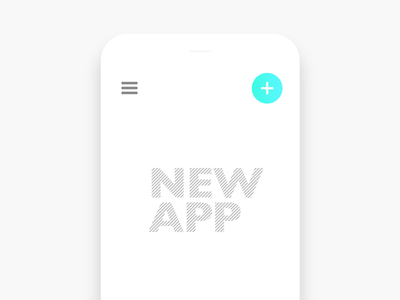 New App project start create minimal menu startup new space white design blank app