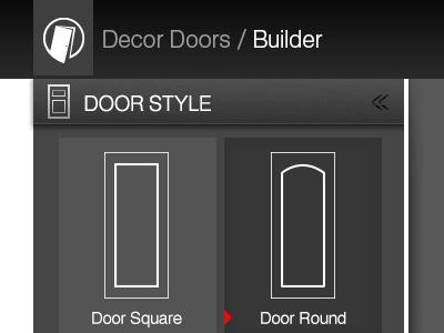 DG Doors Builder doors doors builder builder interface ui arrow door tabs dark ui