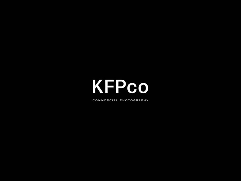 KFPco Alternate Logo modern logo commercial photography san serif watermark icon typography design photographer logo branding