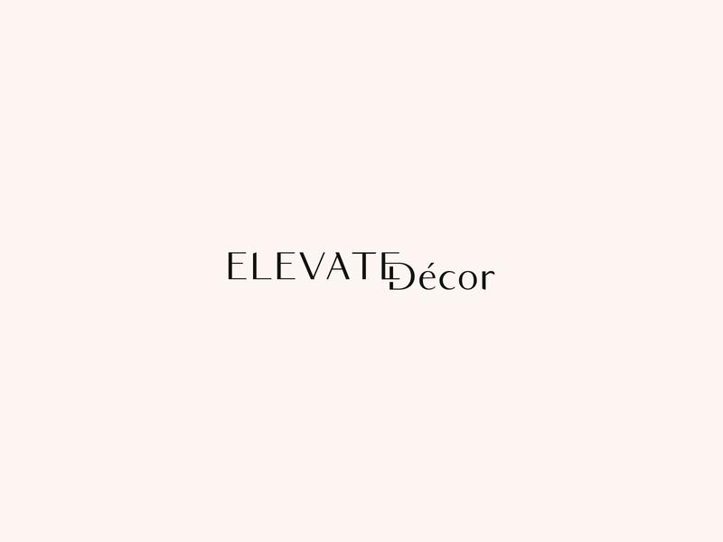 Elevate Décor Alternate Logo Design brand strategy modern minimal event planner logo event branding event stylist event planner event branding design brand and identity brand identity brand design brand icon san serif typography design logo branding