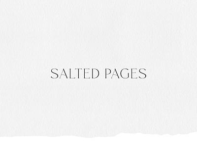Ocean Inspired Logo Design for Copywriter Salted Pages calm handdrawn illustration custom typeface custom brand ocean inspiration ocean inspired ocean serif typography design logo branding