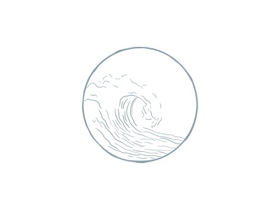 Ocean Inspired Illustration for Copywriter Salted Pages minimal illustration water drawing water illustration line drawing wave drawing wave illustration handdrawn illustration handdrawn illustration modern ocean inspired ocean inspiration ocean
