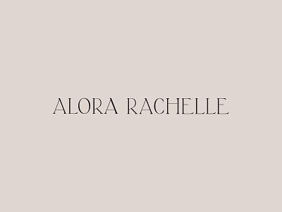 Custom Design for Wedding Photographer Alora Rachelle modern logo modern design classic typography photographer logo classic cinematic nostalgic soulful timeless modern wedding photographer serif watermark icon typography design photographer logo branding