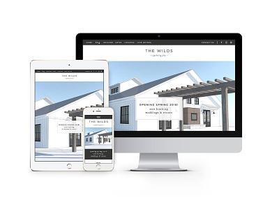 Website Design for The Wilds Venue event venue wedding venue showit web website website design web design