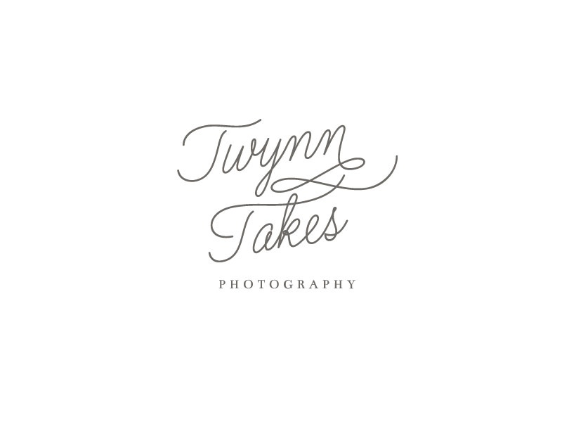 Twynn Takes Photography Stacked Logo portrait photographer wedding photographer swoone photographer branding logo