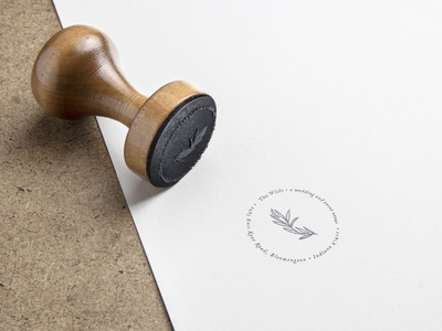 Rubber Stamp design for The Wilds Wedding and Event Venue