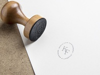 Rubber Stamp design for Kristin Faye Photography