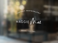 Maggie Mae Photography Storefront sign