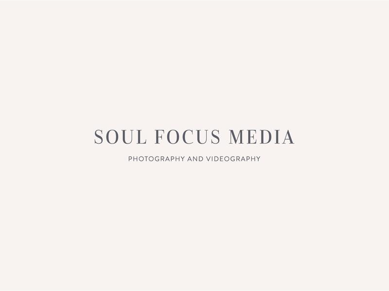 Soul Focus Media Logo Design serif typeface serif wedding photographer san serif watermark icon typography design portrait photographer photographer logo branding