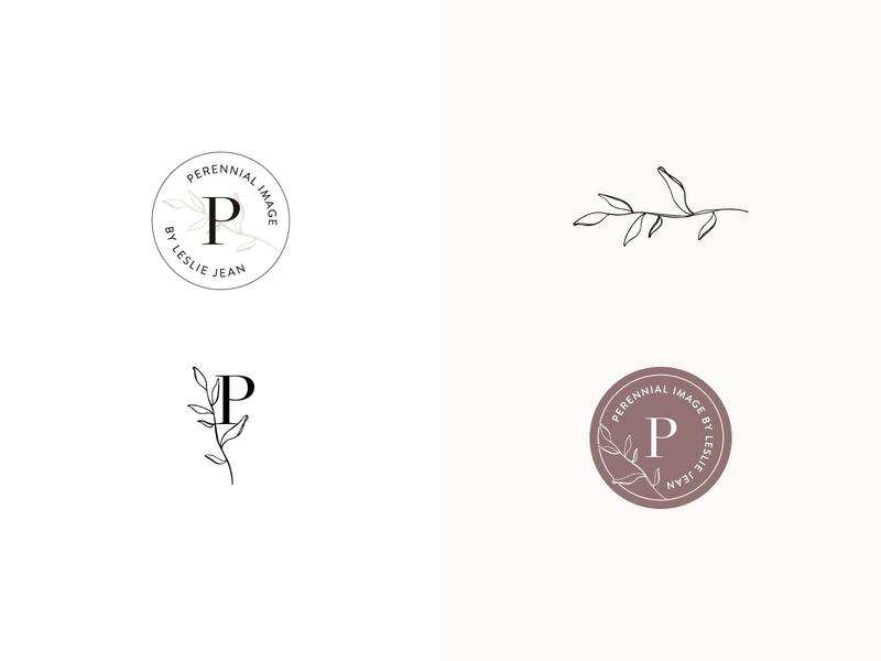 Perennial Brand Marks wedding photographer serif watermark icon typography design portrait photographer photographer logo branding