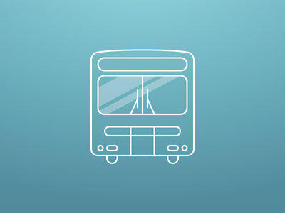 Muni Bus illustration icon line bus muni thin