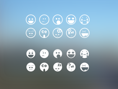 Some Custom Emoji emotions icons happy sad bored love cry laugh sleep confused shocked angry