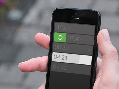 Timer App timer flat gesture mobile iphone simple grey