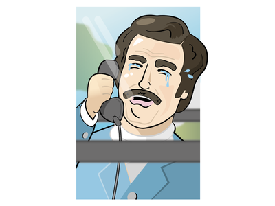 Ron Burgundy - Anchorman sixfanarts fan art uk illustrator will ferrell anchorman ron burgundy