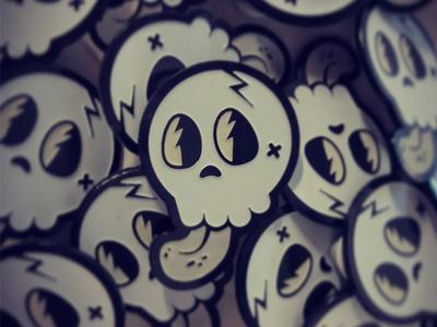 Skull Enamel Pin Badge